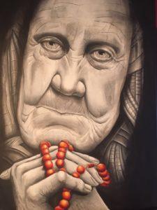 "Yves Lüthi - Portrait ""Alte Frau"""